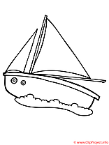 Yacht coloriage
