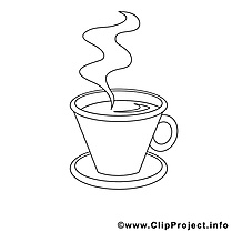 Café clip art gratuit – Travail à colorier