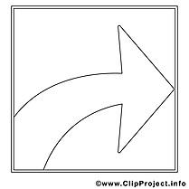 Coloriage flèche travail illustration à télécharger