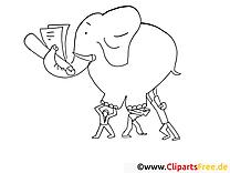 Éléphant image gratuite – Travail à imprimer