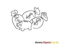 Épargne dessins gratuits – Travail à colorier