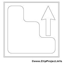 Flèche clip art – Travail image à colorier