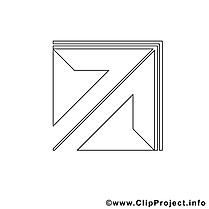 Flèche image à télécharger – Travail à colorier