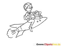 Fusée clip art gratuit – Travail à colorier