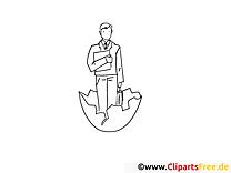 Manager clip art gratuit – Travail à colorier
