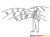 Manager illustration – Travail à imprimer
