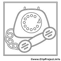 Téléphone clip art gratuit – Travail à imprimer