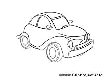 Auto dessin – Voitures gratuits à imprimer