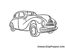 Auto images gratuites – Voitures à colorier