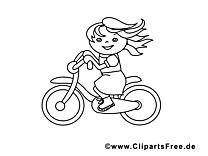 Bicyclette clip art gratuit – Voitures à colorier