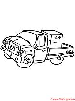 Camion coloriage gratuit