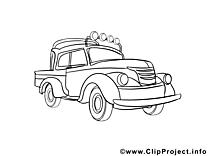 Camionnette illustration – Voitures à imprimer