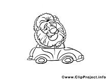 Lion images – Voitures gratuit à imprimer