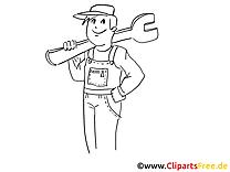 Mécanicien illustration à télécharger gratuite