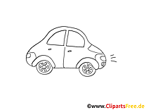 Petite voiture clip arts gratuits à colorier