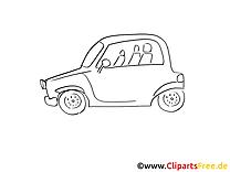Petite voiture image gratuite à imprimer