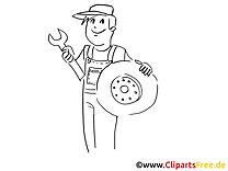 Pneus d'hiver dessins gratuits à télécharger