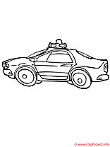 Police coloriage