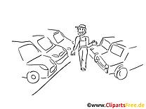 Vendeur automobile image à télécharger