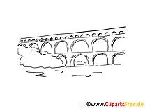 Aqueduc cliparts gratuis – Voyage à imprimer