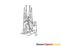 Barcelone image gratuite – Voyage à colorier