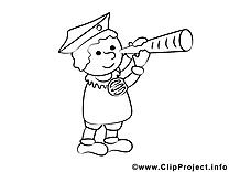 Coloriage capitaine illustration à télécharger