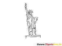Coloriage statue liberté image à télécharger gratuite