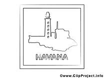Havane illustration – Voyage à imprimer