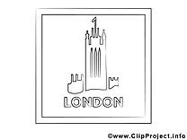 Londre dessin gratuit – Voyage à colorier