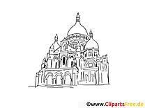 Monument clip art – Voyage image à colorier