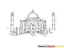 Mosquée clipart – Voyage dessins à colorier