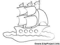 Navire images – Voyage gratuit à imprimer