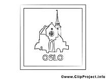Oslo dessin – Voyage gratuits à imprimer