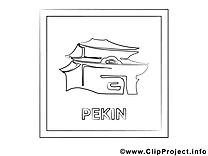Pékin dessin – Coloriage voyage à télécharger
