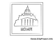 Rome illustration – Voyage à imprimer