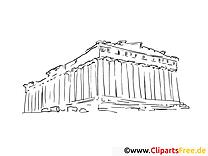 Ruines dessins gratuits – Voyage à colorier