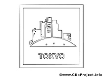 Tokyo dessin – Voyage gratuits à imprimer