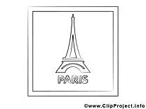 Tour Eiffel images – Voyage gratuit à imprimer