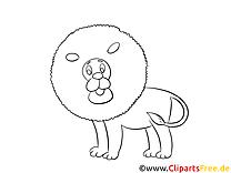 Coloriage lion image à télécharger gratuite