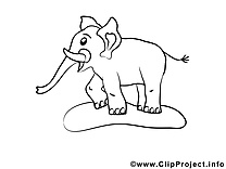 Éléphant clip art gratuit – Afrique à imprimer
