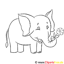 Éléphant dessins gratuits – Afrique à colorier