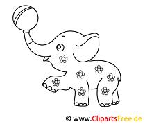 Éléphant image – Afrique images à colorier