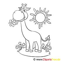 Girafe image à télécharger – Afrique à colorier