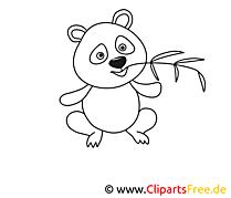 Panda image gratuite – Zoo à colorier