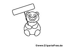 Panda images – Zoo gratuit à imprimer
