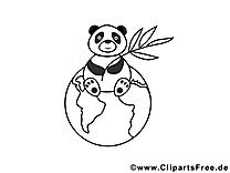 Panda images – Zoo gratuits à imprimer