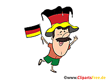 German sport football fan cartoon image