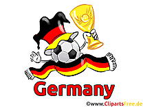 Grand verre à pied football clip art image