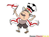 Football Angleterre Clipart Joueur sur le Terrain