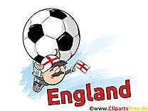 Illustration Soccer Angleterre gratuitement télécharger